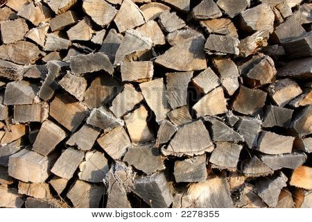 Large Pile Of Fire Wood