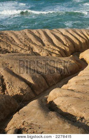 Eroded Ocean Shoreline