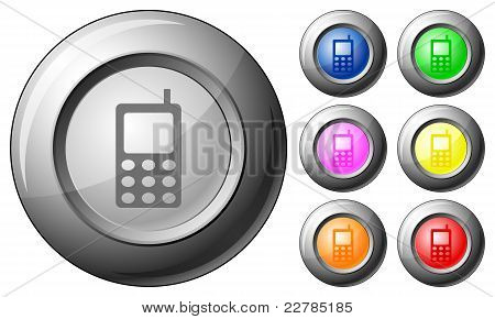 Sphere Button Mobile Phone