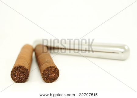 Cigars, Stainless Steel Container