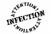 Infection Typographic Stamp. Typographic Sign, Badge Or Logo poster