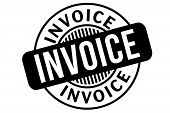 Invoice Typographic Stamp. Typographic Sign, Badge Or Logo poster