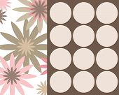 Retro Circles And Flowers Design
