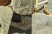 Pouring Cement Concrete Process To Apartment Building Pouring Cement Concrete poster