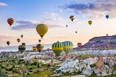 The Great Tourist Attraction Of Cappadocia - Balloon Flight. Cappadocia Is Known Around The World As poster