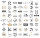 Set Luxury Monogram Logo Template With Flourishes Ornament Elements. Elegant Design For Business Sig poster