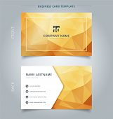 Creative Business Card And Name Card Template Abstract Yellow And Gold Geometric Background With Lig poster