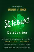 Happy St. Patrick S Day Holiday Poster With Hand Drawn Lettering And Brush Painted Clover Symbol. Ir poster