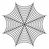 Nice Spiderweb Icon. Outline Illustration Of Nice Spiderweb Vector Icon For Web poster