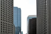 Urban Architecture, Tall, Modern Office Buildings. Abstract. Dynamics, Metropolis. poster