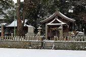 Translation: onechi Shrine In Iizuka, Fukuoka, Japan, During Snow poster