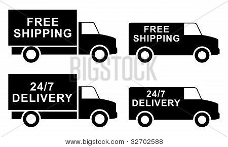 Free Shipping Labels. Vector Illustration