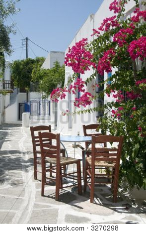 Cafe Taverna Classic Table Chairs Greek Islands