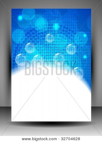 Abstract background with shiny blue bubbles and  space for your text. can be use as flyer, banner or poster for save water concept and other purpose. EPS 10.