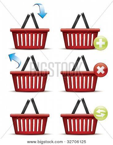 Shopping basket icons