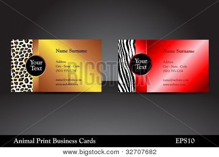 Animal Print Business Cards