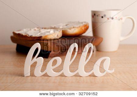 Hello in Front of Breakfast