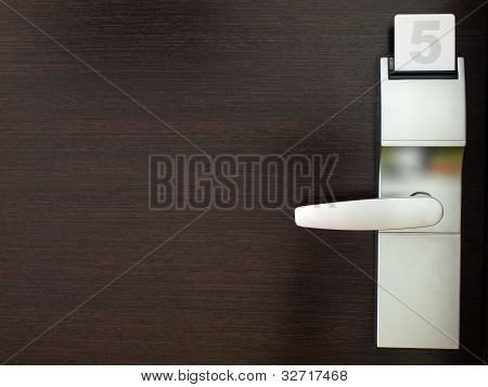 Wooden door with security lock