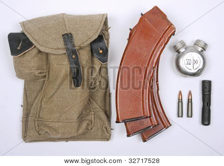 AK47 magazines and pouch