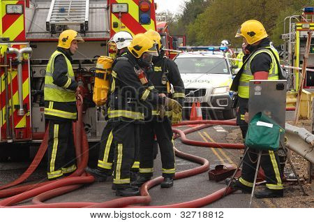 Firefighters at an incident