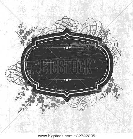 Vector Grunge Frame and Ornaments. Easy to edit. Perfect for invitations or announcements.
