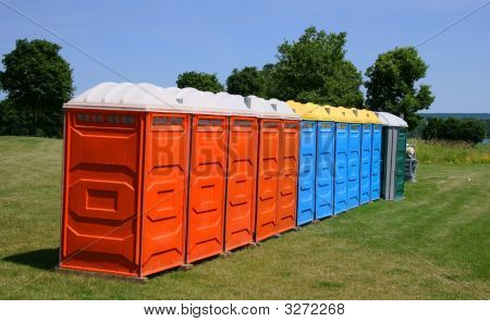 Colourful Outdoor Washrooms