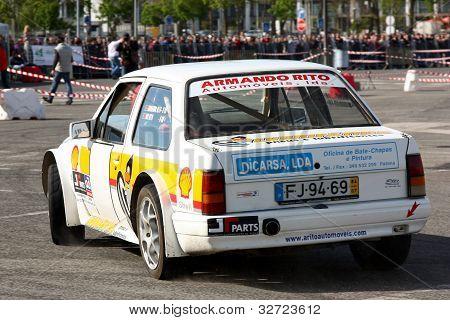 Leiria, Portugal - April 22: Armando Rito Drives A Opel Corsa Prototype During Leiria City Slalom