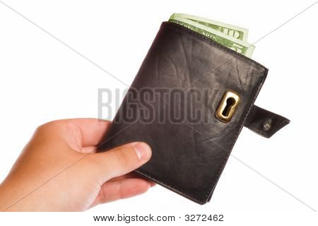 Money Safe Concept – Wallet With Keyhole