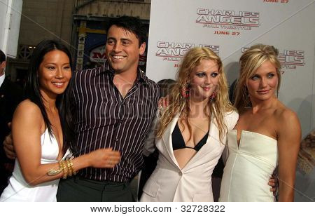 LOS ANGELES - JUN 18: Lucy Liu, Matt LeBlanc, Drew Barrymore, Cameron Diaz at the premiere of 'Charlie's Angels: Full Throttle' on June 18, 2003 in Los Angeles, California