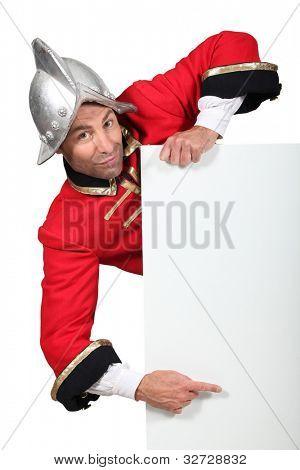 Man dressed in conqueror