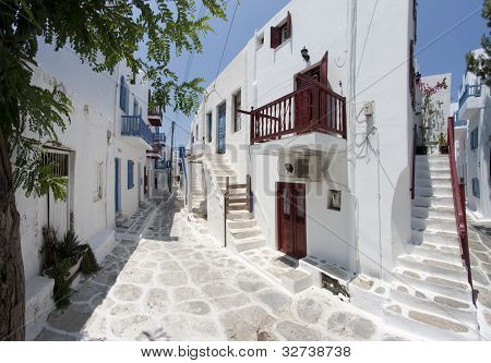 Typical Street In Mykonos