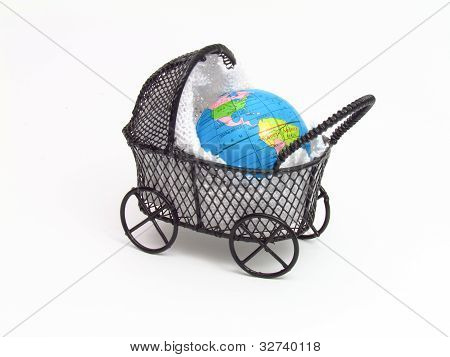 Baby Buggy with the planet earth within