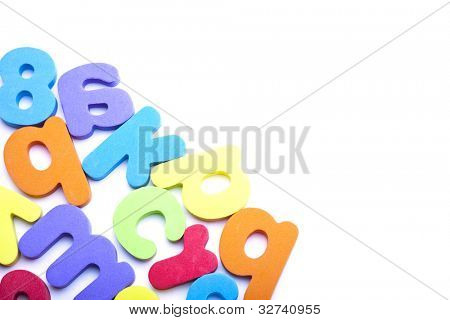 Multi-colored alphabet frame