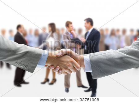 handshake isolated abd business people