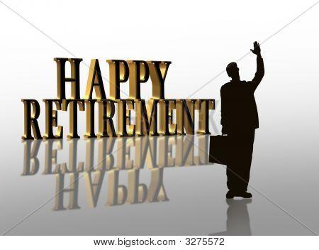 Happy Ruhestand Abbildung 3d