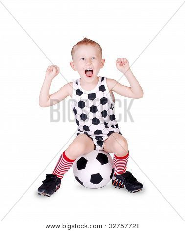 Screaming Little Football Fan