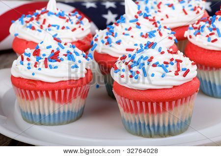 Cupcakes do dia da independência