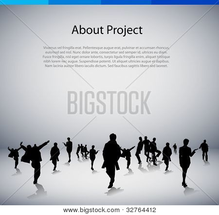 Template for brochure with business people