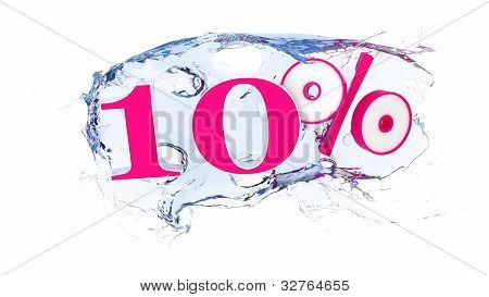10 percent Summer Sale Or Discount Tags