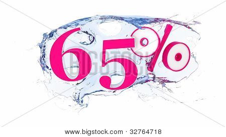 65 percent Summer Sale Or Discount Tags