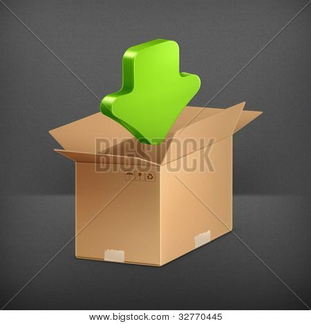 Download icon, vector