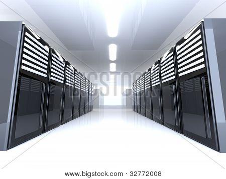 Sala de servidores - grande angular