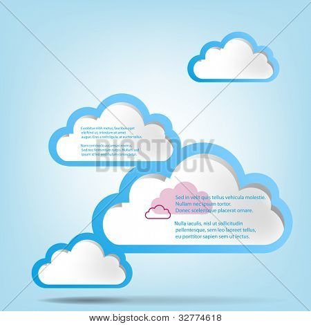 Abstract web design background with clouds.EPS10 vector illustration.