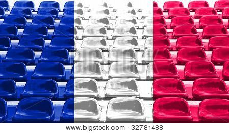 France Flag Pattern On Seat