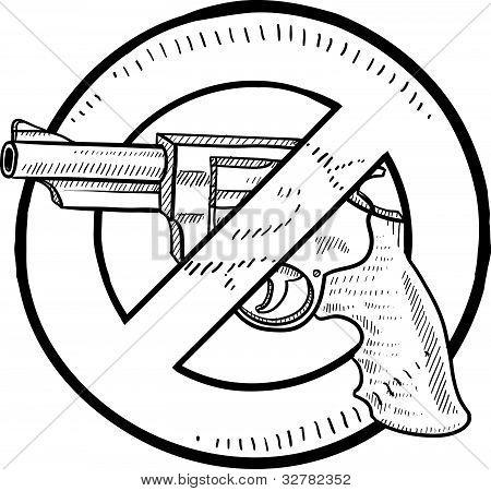 Esboço de proibição de arma