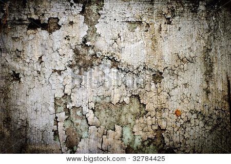 Dirty Peeling Paint on a Concrete Surface Wall Background