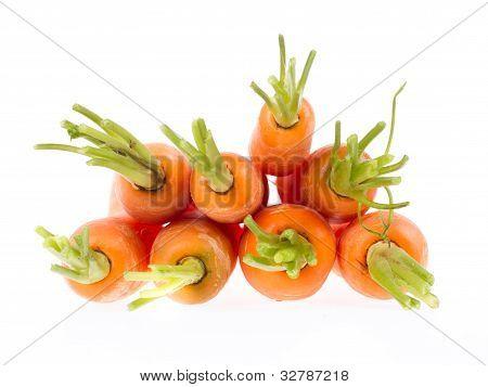 Montón de zanahorias