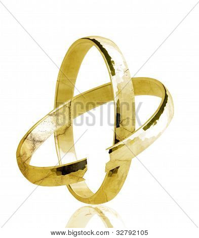Broken weddingring