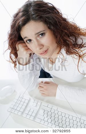 Businesswoman Disconsolate