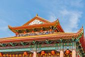 George Town Malaysia. March 8 2019. The Beautiful Tiered Roof At Kek Lok Si Temple In George Town Ma poster